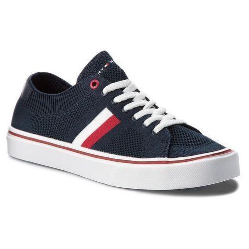 7d4ea0c31731e Tenisówki TOMMY HILFIGER - Lightweight Corporate Sneaker FM0FM01619 Midnight  403, kolor niebieski