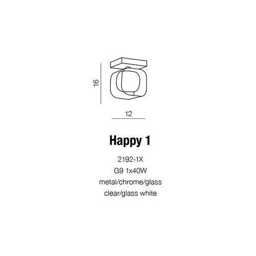 Azzardo kinkiet/lampa ścienna happy biały 2192-1x