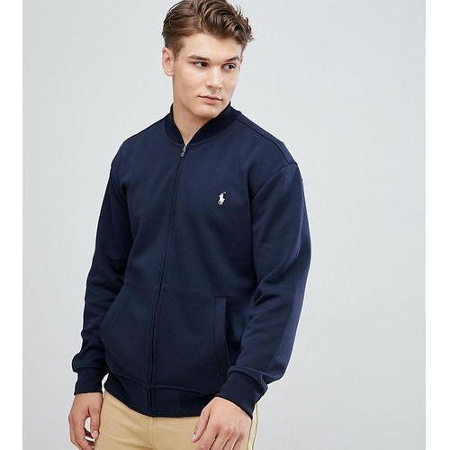 Polo Ralph Lauren Big & Tall Full Zip Sweat Bomber Player Logo in Navy - Navy