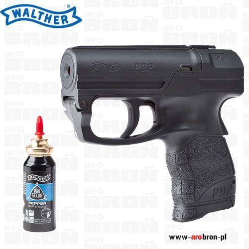 Pistolet gazowy Walther PDP + wkład gazowy żelowy Pro Secur - jedyny pistolet z gazem w żelu o zasięgu 5m