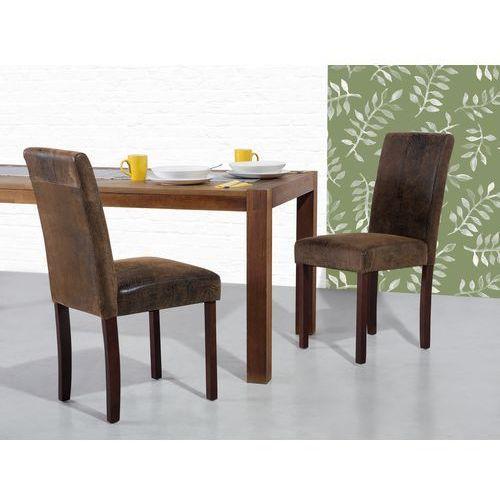Beliani Krzesło brązowe-retro - do jadalni - kuchenne - tapicerowane - broadway, kategoria: krzesła