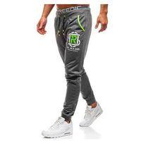 Spodnie męskie dresowe joggery grafitowe Denley KK521, dresowe