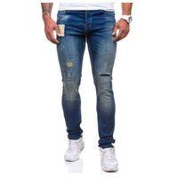 Granatowe spodnie jeansowe męskie Denley 250, jeans