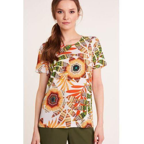 Studio mody pdb Wzorzysta bluzka z krótkim rękawem