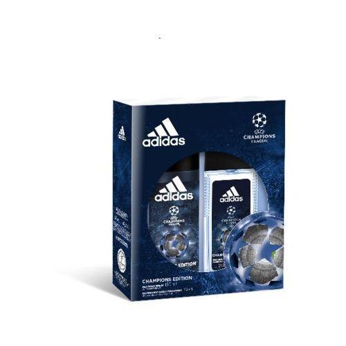 ADIDAS MEN ZESTAW PREZENTOWY UEFA CHAMPIONS LEAGUE ( DEZODORANT DNS 75ML+DEZODORANT SPRAY 150ML ) (3614225114366)
