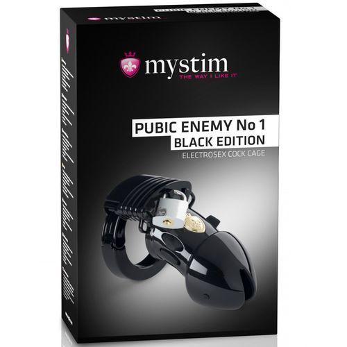 Mystim pubic enemy no 1 czarny pas cnoty z elektrostymulacją - kup w naszym sklepie, a otrzymasz 5% rabatu na kolejne zakupy! (4260152466246)