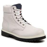 Trapery - outdoor nubuck boot em0em00316 white 100 marki Tommy jeans