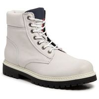 Trapery - outdoor nubuck boot em0em00316 white 100, Tommy jeans, 41-43