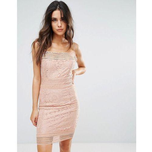 AX Paris Lace Midi Dress - Pink, 1 rozmiar