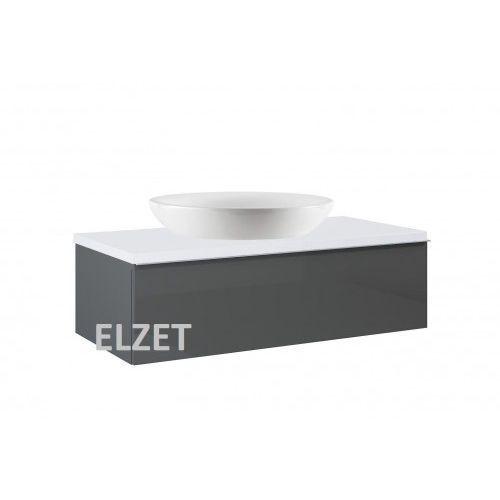 Elita szafka look 1s anthracite pod umywalkę nablatową + blat 100 white 167084+166894