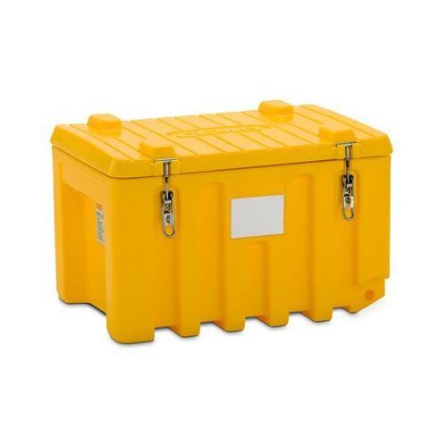 Pojemnik uniwersalny z polietylenu, poj. 150 l, nośność 100 kg, żółty. optymalne marki Cemo
