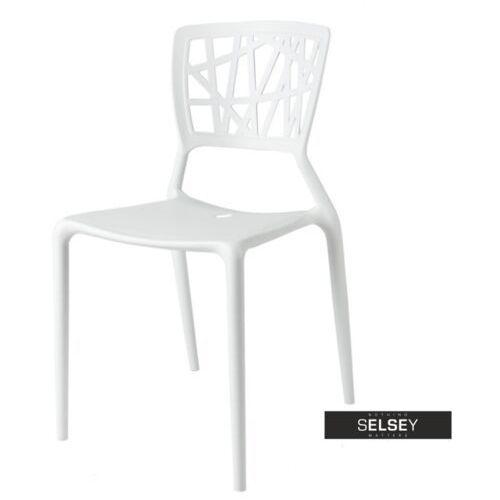 SELSEY Krzesło Devir białe, kolor biały