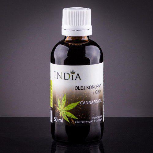 Olej konopny z cbd 50ml wyprodukowany przez India cosmetics