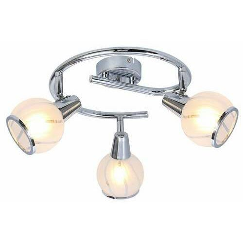 Reality megan 831033-06 spirala plafon lampa sufitowa spot 3x40w e14 chrom (5906737308219)