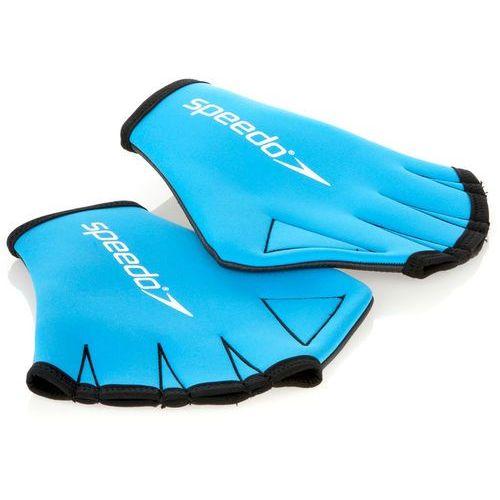 Speedo aqua gloves niebieski s 2018 akcesoria pływackie i treningowe