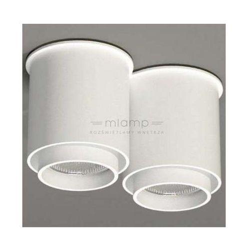 Shilo Downlight lampa sufitowa iga 1116/gu10/bi natynkowa oprawa metalowa spot tuby białe (1000000328608)