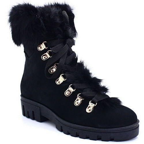 Ulmani 21796 czarne - workery z puszkiem - czarny, Ulmani shoes