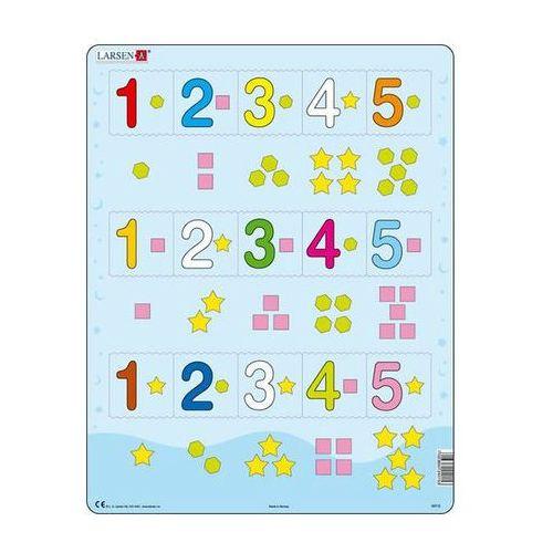 Neuveden Puzzle maxi - Čísla 1-5 s grafickými znaky/15 dílků
