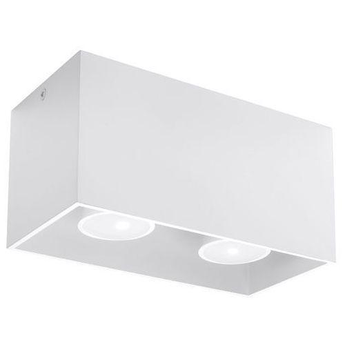 Spot plafon quad maxi sl.0380 oprawa sufitowa 2x40w gu10 biały marki Sollux