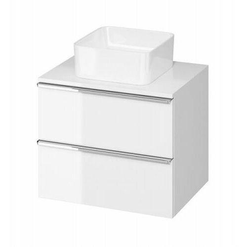 Cersanit szafka virgo 60 biała połysk pod umywalkę nablatową, chromowane uchwyty s522-040 (5901771005650)