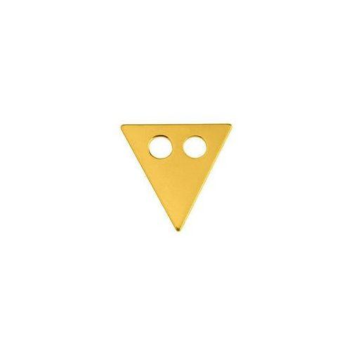 Blaszka celebrytka trójkąt, złoto próba 585 marki 925.pl