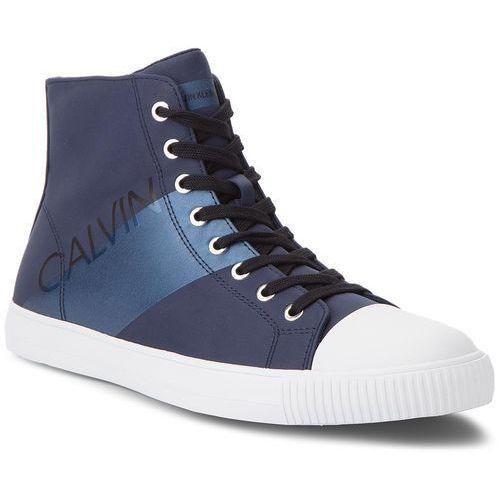 Trampki jeans - antani se8591 navy/metal blue marki Calvin klein
