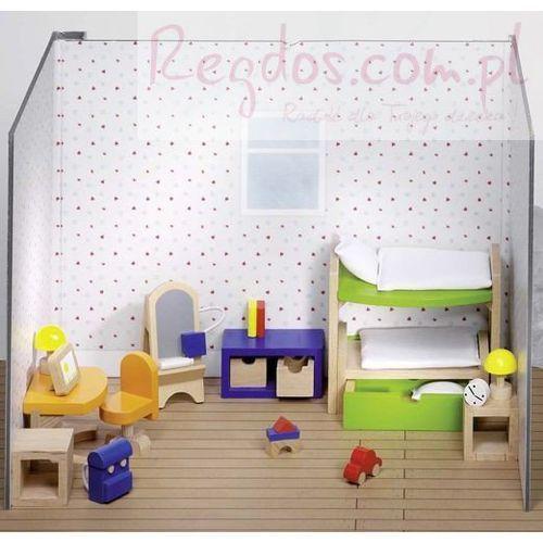 Mebelki do pokoju dziecka z łóżkiem piętrowym, 28 elementów od producenta Goki