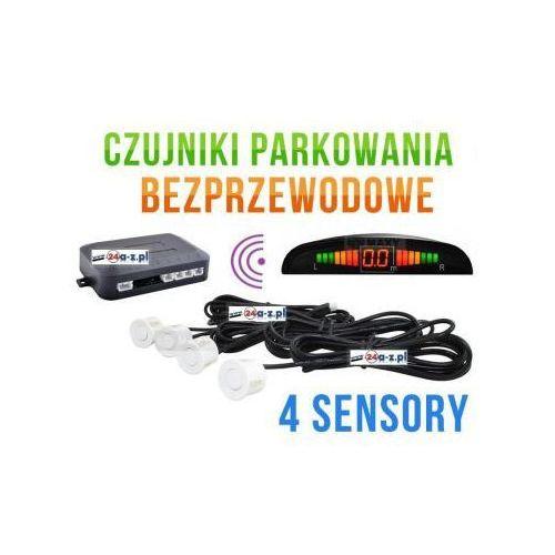 Bezprzewodowe Czujniki Parkowania (4-sensory + sygnalizator) - BIAŁE., 5908738262172