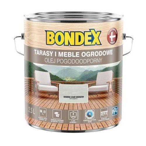 Olej do drewna pogodoodporny srebrno-szary modrzew 2,5 l marki Bondex