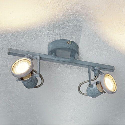 Britop lighting Listwa lampa sufitowa oprawa plafon spot concreto 2x4,5w gu10-led szary 2728232 (5902166903322)