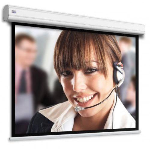 Ekran ścienny elektrycznie rozwijany motorized professional 250x199cm/250x155cm, 4:3/16:9, visionwhiterear marki Adeo