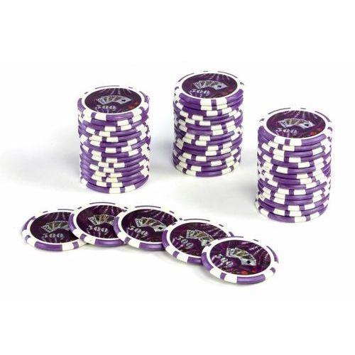 50szt. żetony do pokera z nominałem 500 waga 11g