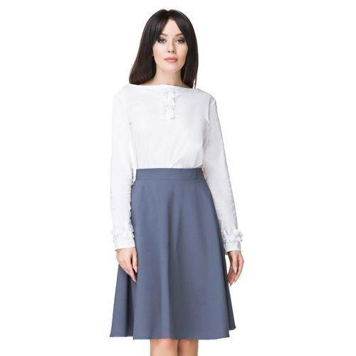 Niebieska spódnica klasyczna midi z koła marki Tessita