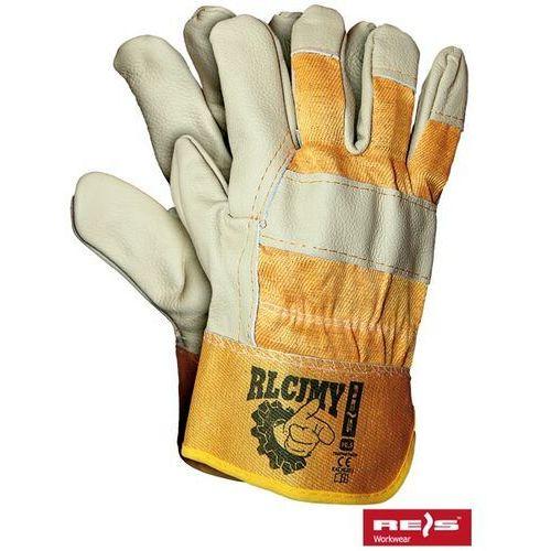 Rękawice robocze wzmacniane skórą licową RLCJMY rozmiar 10