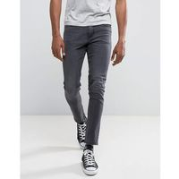 New Look Skinny Fit Jeans In Washed Black - Black, jeansy