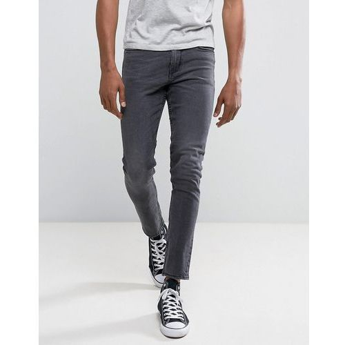skinny fit jeans in washed black - black, New look