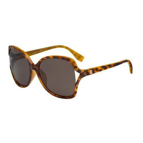 Okulary Słoneczne Fendi FF 0148/K/S MICROLOGO Q3V/8H, kolor żółty
