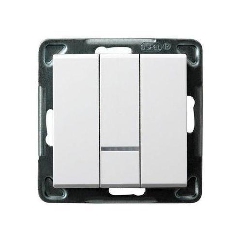 Łącznik potrójny z podświetleniem biały ŁP-13RS/m/00 SONATA (5907577446963)