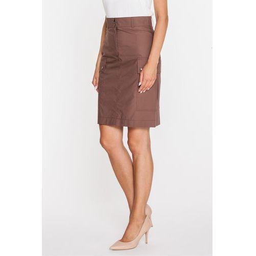 Brązowa spódnica w stylu safari - marki Bialcon