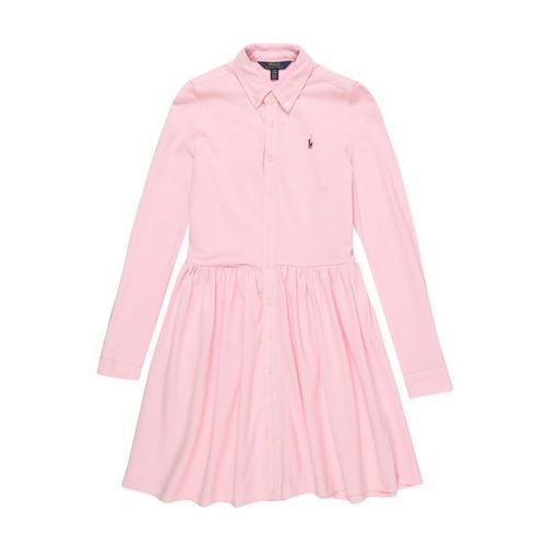Polo ralph lauren sukienka 'oxford dress-dresses-knit' różowy pudrowy (3615731288459)