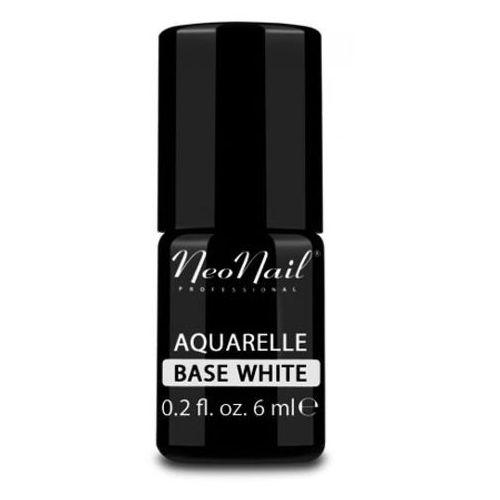 NeoNail AQUARELLE BASE WHITE Baza biała do lakieru hybrydowego Aquarelle
