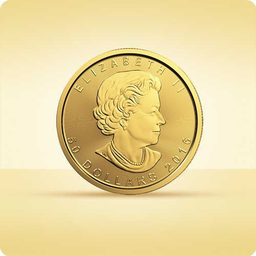 Royal canadian mint Kanadyjski liść klonowy 1 uncja złota - wysyłka 24 h! - 24h