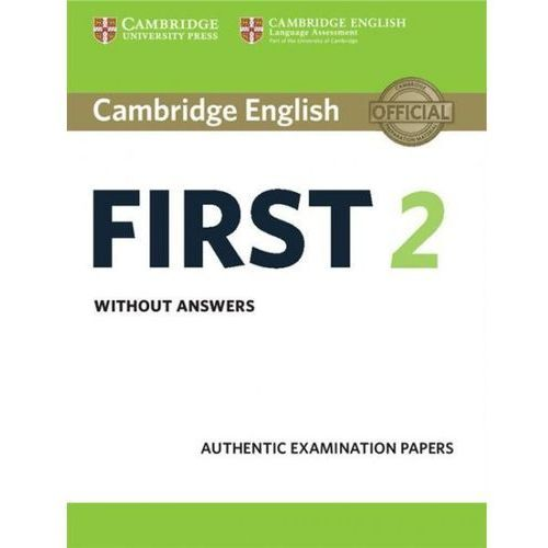 Cambridge English First 2 Student's Book without answers, CAMBRIDGE UNIVERSITY PRESS