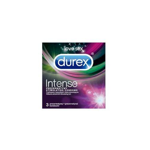 Durex 3szt intense prezerwatywy | darmowa dostawa od 150 zł! (5900627068351)