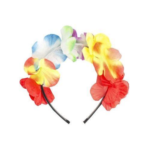 Opaska na głowę - hawajska - kolorowe kwiaty - 1 szt. marki Kraszek