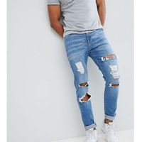 Brooklyn supply co skinny jeans with burn abrasions in light wash - blue marki Brooklyn supply co.