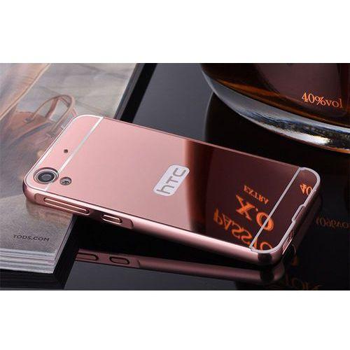 Mirror bumper  metal case różowy   etui dla htc desire 626 - różowy