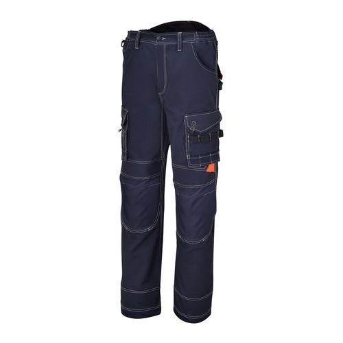 Spodnie robocze z wieloma kieszeniami, niebieskie z płótna, Beta 7816BL - rozmiar: L