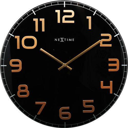 Zegar ścienny classy large czarno-miedziany marki Nextime