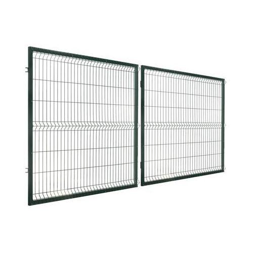 Brama dwuskrzydłowa stark 400 x 150 cm zielona marki Polbram